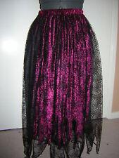 berry black cobweb velvet skirt custom made10 12 14 16 18 20 22 24 26 28 30 32