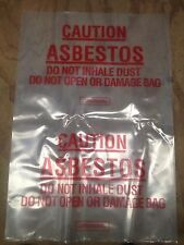 Asbestos Bags 600 x 900mm X 10 + free roll 1 duct tape & Asbestos Barricade Tape