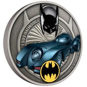 Niue 2 Dollar 2021 - DC Comics™ - 1989 Batmobil (2.) - 1 Oz Silber Antik Finish