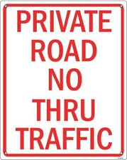 Private Road aluminium funny wall sign 255mm x 205mm (ss)