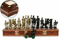 Great SPARTAN Wooden Chess Set 40x40cm & Weighted Pieces. CLASSIC, GOLD & SILVER