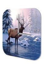 Fun Wall Clock Vintage Decoration  Snow Deer River Acryl Acrylglass