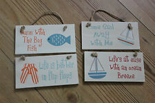 WOOD SIGN,HANGING,CHOICE OF FOUR FUN NAUTICAL VERSES