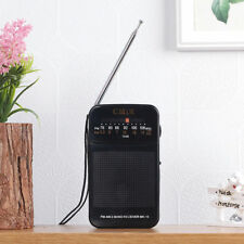 CMiK AMFM Portable Radio MK-16 Pocket Size Battery Powered Earphone Jack n_o