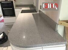 Grey mirror fleck Quartz kitchen worktop | Quality Stone | Sample