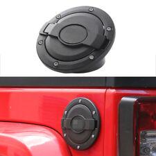 fit 2007-17 Jeep Wrangler Black Gas Tank Cap Fuel Filler Cover U.S. Flag Style