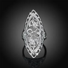 7# Fashion Woman Jewelry 925 Sterling Silver Ring Carved for Wedding PartiesGXc