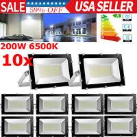 200W 6500K LED Flood Light SMD Outdoor Garden Landscape Lamp Spotlight 110V New