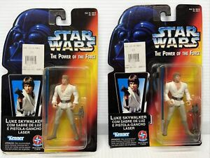 Lot Of 2 Star Wars POTF 1996 Luke Skywalker - SEE PACKAGE DEFECT - LOOK