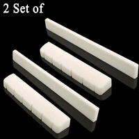 Classical Guitar Bridge Saddle Cattle Bone 6 String Slotted Nut 2 Set New