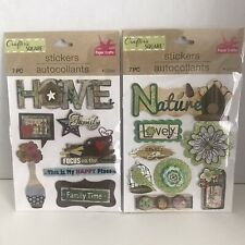 Art And Craft Sticker Lot Pack Of 2 Nature/Family Stickers
