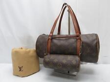 Auth Louis Vuitton Monogram Papillon 30 Hand Bag with Pouch Vintage 8H210300m