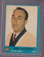 1962 Topps Hockey #1 PHIL WATSON Near Mint Boston BRUINS
