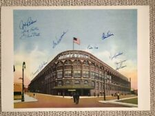 EBBETS FIELD HAND SIGNED OVERSIZED 16x22 PRINT     SIGNED BY 10 BROOKLYN DODGERS