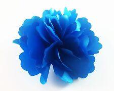 """USA"" Hair Fabric Flower Clip Brooch Womens Rose Peony Lady Sheer Blue Pin 05"