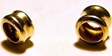 Granelli pepite tubi in Oro giallo 18K da infilare in cordini cotone cuoio