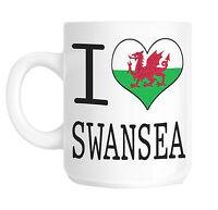 I Love Heart Swansea Wales Flag Gift Mug