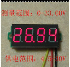 """DC 0-33V Red 0.36"""" LED 4 Digit Digital Voltmeter Voltage Panel Meter-U"""