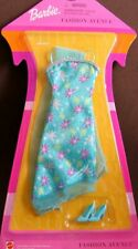 2002 Barbie Fashion Avenue Foreign Fashion Aqua Print Dress Wrap Mattel #52832