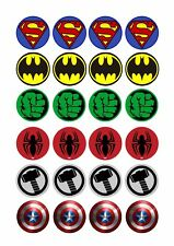 24 x LOGOS Superheroes Cup Cake Toppers ICING