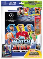 2016 2017 UEFA Champions League Soccer Match Attax Starter Pack BINDER Album