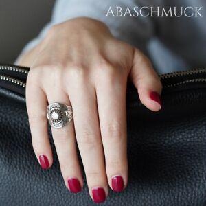 Silberring Silber 925 Ring  Verstellbar Offen R0856 Boho, Schick, breit, massiv