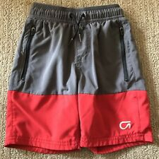 Gap Fit Kids XS Athletic Shorts Gray And Red