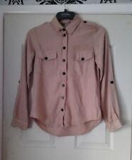 ladies brand new beige utility shirt size 6