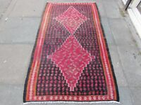 Old Traditional Hand Made Persian Oriental Wool Red blue Kilim Rug 180x105cm