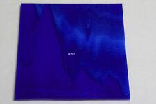 "2164.00 CARIBBEAN BLUE, WHITE 3"" x 3"" FUSIBLE BULLSEYE GLASS SQUARE 90 COE"