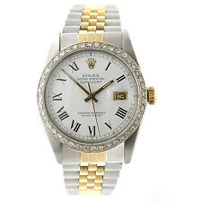 Mens Rolex DateJust 16013 36mm 18k/Stainless Steel Jubilee Diamond Bezel Watch