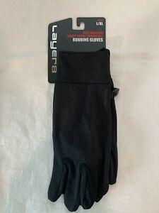 Men's Layer8 Cold Weather Running Gloves Size L/XL Black NWT
