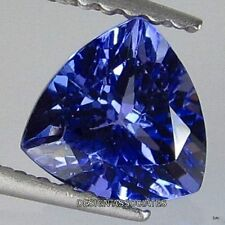 TANZANITE  TRILLION CUT  NATURAL GEMSTONE 6.5 MM AAA