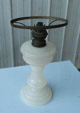 Kerosene Oil Lamp base and Font Milk Glass VINTAGE with Sitter and Burner