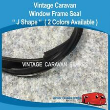 Caravan Window Frame Seal  ( J SHAPE WR020 BLACK ) Millard, Roma, Evernew