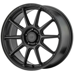 "Motegi MR140 18x8.5 5x112 +35mm Satin Black Wheel Rim 18"" Inch"