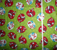 New Dr. Seuss The CAT in the HAT Christmas Thing 1 Thing 2  Cotton Fabric -  bty