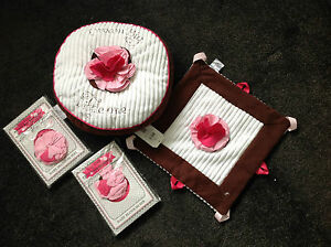 Boutique Itty Bitty & Pretty  Baby Girl Set Brown & Pink