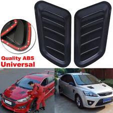 2pcs ABS Universal Fit Black Car Air Flow Intake Scoop Hood Bonnet Vent Cover