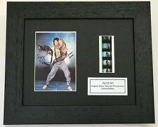 More details for aliens sigourney weaver & carrie henn signed repro original filmcell memorabilia