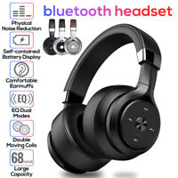 Wireless Headphones bluetooth Stereo Bass Headset Hands-free EQ Noise Cancelling