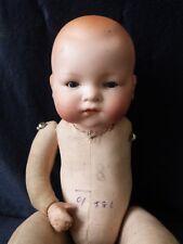 Antiguo Porcelana Muñeca Bebé Paño cuerpo Am Alemania 341/? Armand Marseille extremidad