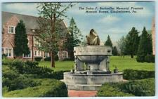 Elizabethtown, Pa Dulon F. Buchmiller Memorial Fountain Masonic Homes Postcard
