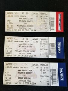 Ronald Acuna Jr. Atlanta Braves 3 Home Run Games -  2018 and 2019 Year Tickets