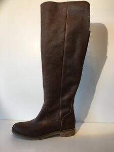 Lucky Brand Women's Generall Tall Boot (1247) Leather Nutmeg Size 6M Retail $229