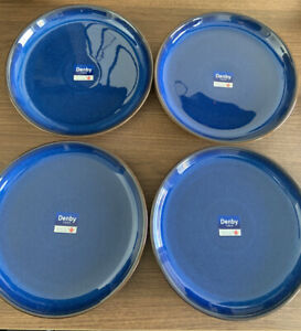 NEW Denby Imperial Blue Coupe Dinner Plate