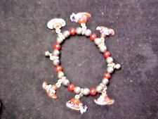 with 6 Red Hat Charms Red Hat Club stretchy Bracelet