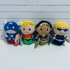 Hallmark itty bittys Dc/ Marvel Wonder Woman, Aquaman, Captain America/ Hawkeye