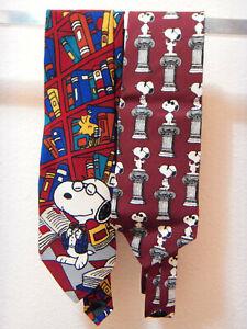 1970's lot of 2 Peanuts Snoopy men's ties