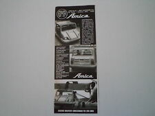 advertising Pubblicità 1973 BMA AMICA